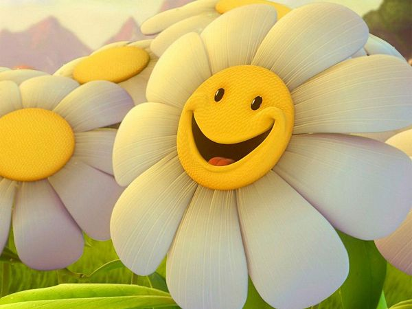 huigh quality wallpaper of cartoon sunflower ,click to download