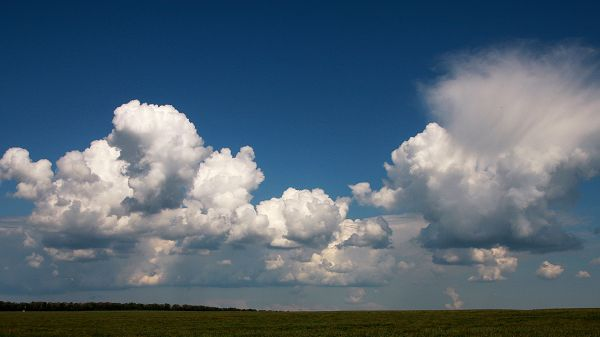 landscape wallpaper - The White Clouds Are Like Soft Cottons, the Blue Sky, Natural Beauty