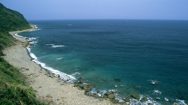 sceneries pictures - The Sea and the Sky in Same Color, Shall Always Kiss Each Other