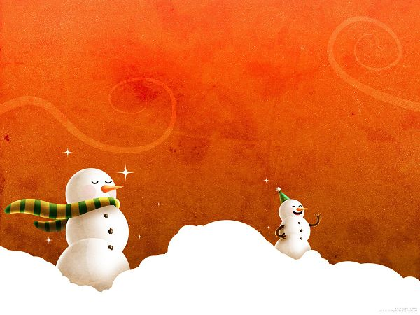 Snow Man Wallpaper