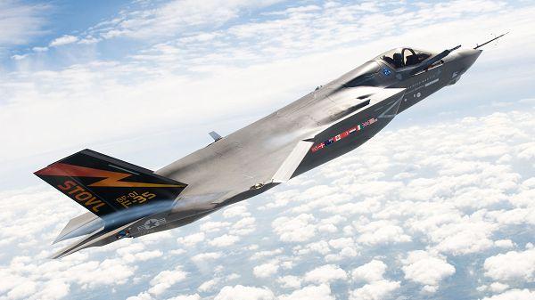 Wallpaper Of Lockheed Martin F-35 Fllying In Sky