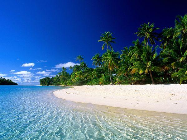 Wallpaper Of Beach: A Quiet Beach In Cook Islands
