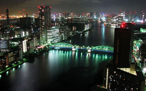 Wallpaper Of Beautiful Scenery Of City:Tokyo Panorama At Night
