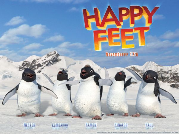 wallpaper of movie Happy Feet ,click to download