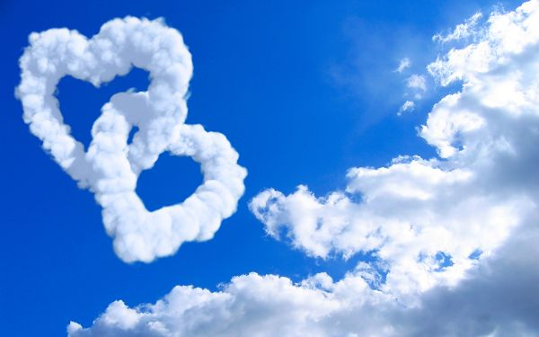wallpaper of natural scenery-blue sky and white clouds,click to download