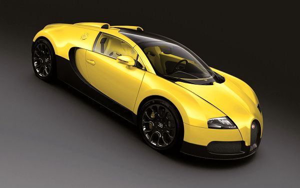 Wallpaper Of The Top Car: A Yellow Bugatti Veyron 16.4