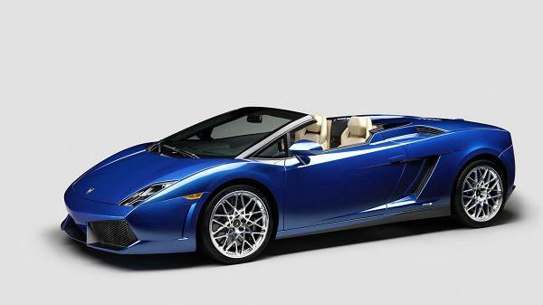 Wonderful Wallpaper: A Blue Lamborghini Gallardo LP 550...