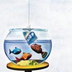 Free High Resolution 3d Animal Computer Wallpaper Cartoon Fish Eat Money In Wallpaper 1600*1200(1)