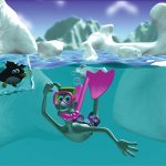 Free High Resolution 3d Cartoon Computer Wallpaper Snow Mountaing And Ocean 1600*1200(4)