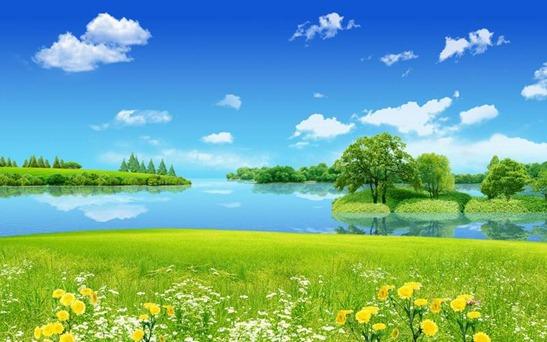 2017-eye-protection-wallpaper-white-cloud-lake-grass-02-thumb[2]