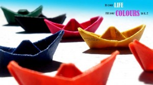 Background Wallpaper for Computer, Colored Handmade Boats, Fill Your Life's Color in Them!