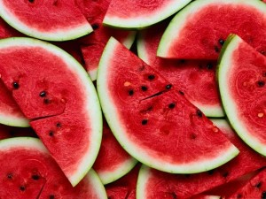 Free Fruits Wallpaper, Sliced Watermelon, Red and Delicious