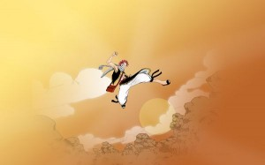 A Naughty Guy Good at Jumping, is Close to the Sky, His Happiness Seems Infection, You Will Laugh - HD Cartoon Wallpaper