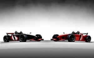 3D Cars Wallpaper, Red Car in Stylish Look, Black Background