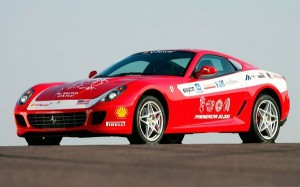 Ferrari Car Images, Red Super Car on Flat Road, Wins First Attention