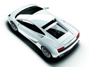 Top Cars as Wallpaper, White Lamborghini Sport Car in Stop, Dark Shadow
