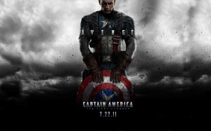 Captain America First Avenger Post in 1680x1050 Pixel, Guy with Shield and Protection, is He Paying Respect to His Weapon? - TV & Movies Post