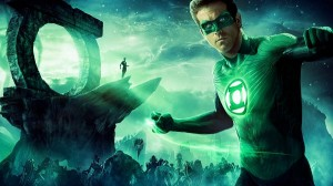 Green Lantern Post 2011 in 1920x1080 Pixel, Man Seems Like a Giant the Same Tall as Hill, Unwise to Fight Against Him - TV & Movies Post