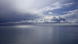 Beautiful Sea Sceneries - The Sea is Simply Endless from the Look, Dark and Twisting Clouds Over It
