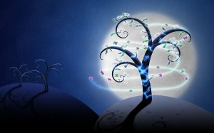 Night Dreams Post in 1920x1200 Pixel, Branches Are Stretching the Arms as Freely as They Want, Hope You Enjoy the Dreamy Scene - HD Creative Wallpaper