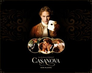 Free Movies Post, Heath Ledger in Casanova, White Mask, He is a Living Presence