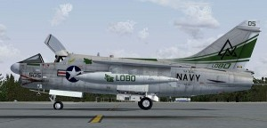 Image of Paris Air Show, US Navy Vought A-7 Corsair II on the Ground