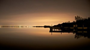Images of Nature - The Peaceful and Endless Sea, Lighted Up Horizon, Living Residence, Scene at Dusk