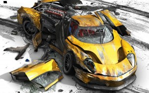 Free TV & Movies Picture - Burnout Revenge Post in Pixel of 1920x1200, Yellow Burnout Car, Is It Losing Breath?