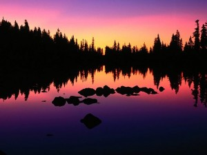 Amazing Pics of Landscape, Lake Russel, the Pink Sky, Great in Look
