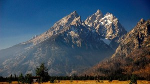 Natural Scenery photos - Tall and Magnificent Hills, Snow Over the Top, Incredibly Blue Sky