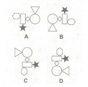 Interesting IQ Test Picture(3): Find the different one figure quickly