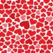 Romantic Post, Red Hearts in Various Sizes, Red to Pink, Seem on the Move