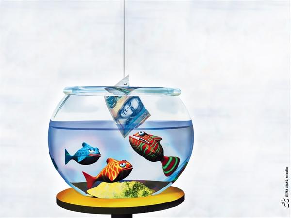 Free High Resolution 3d Animal Computer Wallpaper Cartoon Fish Eat Money In Wallpaper 1600*1200(1)